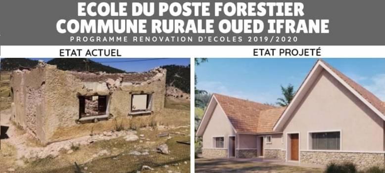 Rénovation de l'école du poste forestier de la commune oued ifrane